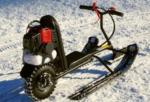 Как сделать детский снегоход на бензине своими руками?